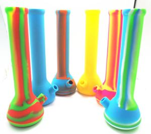 13.6′′ Height Newest Design Silicone Water Pipe with Shisha Hookah pictures & photos