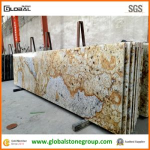 Custom Polished Colonial Gold Granite Countertops for Kitchen
