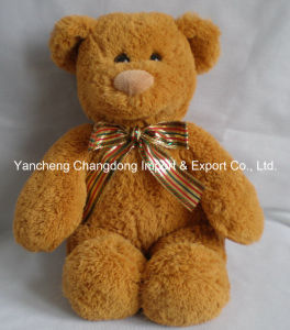 Plush Sitting Brown Teddy Bear with Soft Material pictures & photos