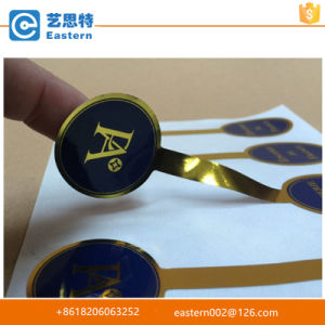 High Quality Transparent Gold Foil Printing Label pictures & photos