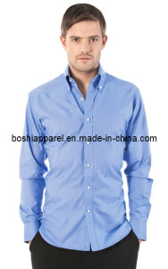 Men′s Casual Blue Shirts (LA-BS26) pictures & photos