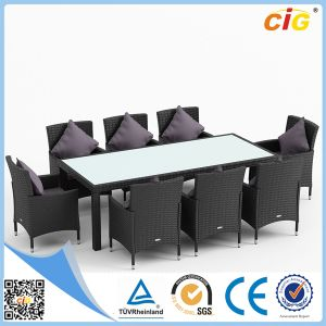 11PCS Popular Good Quality Glass Dining Set Best Price pictures & photos