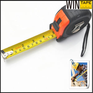 7.5m Flexible Rubber 25′ Retractable Steel Measuring Tape High Quality Belt Clip with Names or Logo pictures & photos