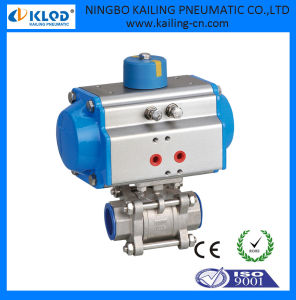 Single Acting Pneumatic Actuator Ball Valve Dn25 Klqd Brand pictures & photos