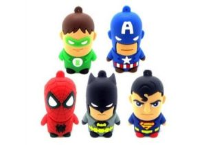 New Gift Novelty Superhero USB 2.0 8GB 16GB, Different Style Cartoon USB Pendrive, Free Hot Animal Sex USB Flash Drive (CMT-ES20) pictures & photos