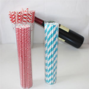 Eco-Friendly Colorful Printing Paper Straws with PVC Tube Packing pictures & photos