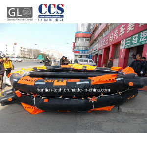 CCS Approved Marine Rubber Boat Inflatable for 50 People pictures & photos