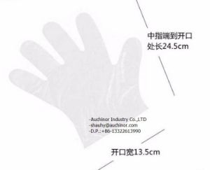 New Product Transparent Embossed HDPE Disposable Gloves pictures & photos
