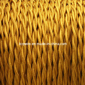 2-Conductor 18-Gauge Gold Rayon Twisted Wire pictures & photos