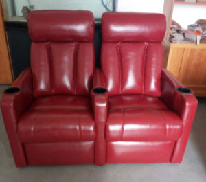 PU Theatre Recliner Sofa Cinema Recliner Sofa pictures & photos