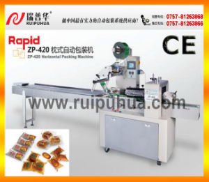 Zp-420 Flow Packing Machine for Bread/Cake/Biscuit/Loaded Product pictures & photos