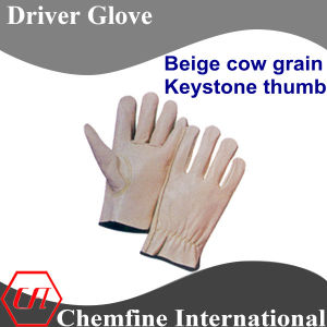 Beige Cow Grain, Keystone Thumb Leather Driver Glove pictures & photos