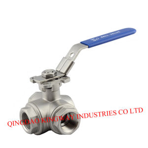 Three-Way Ball Valve with Mounting Pad ISO5211 pictures & photos