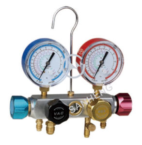 High Quality 4-Way Digital Manifold Pressure Gauge with ISO (SH-M60336) pictures & photos