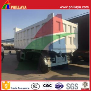 30-40ton Sand Transport Dump Trailer with Hydraulic Pump pictures & photos