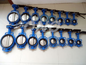 Soft Sealing Wafer Wafer Plug Type Butterfly Valve pictures & photos