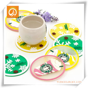 Starbucks Transparent Coaster/Cup Mat/Placemat for Promotion pictures & photos