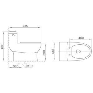 Sanitary Ware Cupc Bathroom Water Closet Ceramic Toilet pictures & photos