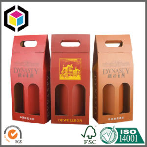 Open Window Cardboard Carton Paper Wine Packaging Box pictures & photos