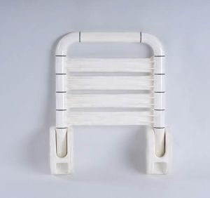 Plastic Folding Stainless Steel Chair for Elder and Disabled White/Yellow pictures & photos