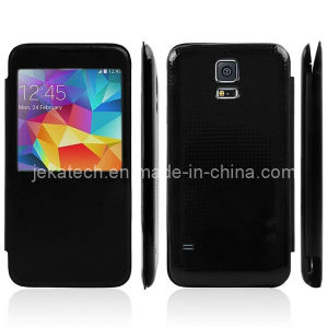 Window Leather Case for Samsung Galaxy S5 pictures & photos