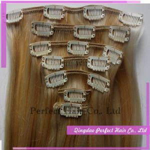Clip in Hair Bun Extensions Dark Browne pictures & photos