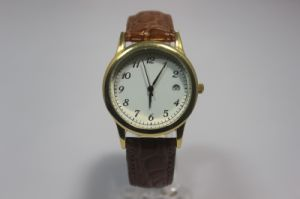 Casual Minimalist Digital Leather Watch pictures & photos