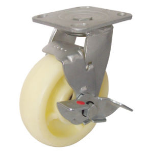 Heavy Duty Swivel a-Nylon Caster (Yellow White) pictures & photos