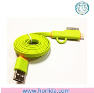 3 In1 Universal USB Charging & Sync Cable Compatible with iPhone & Samsung