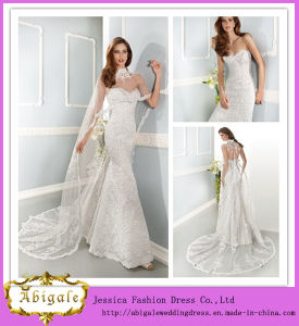 Fashionable Sweetheart Floor-Length Sheath Sleeveless Lace Wedding Dress (ED10031)