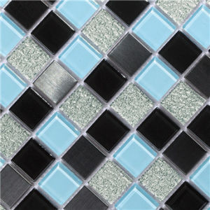 Most Fashionable Glass Mosaic Wall Tiles Washing Room Crystal Glass Mosaic