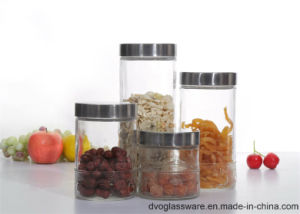 Glass Storage Container with Stainless Steel Lid