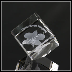 3D Photo Crystal Cube Lily Souvenir Gifts pictures & photos