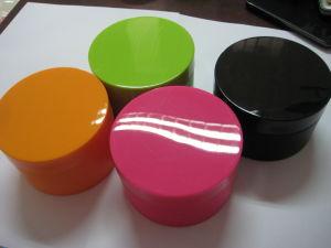 30g 50g Black Color Round Shaped Decorative Plastic Cream Jar pictures & photos