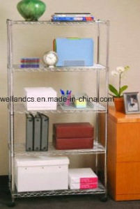 5 Tiers Home Steel Chrome Wire Shelving Racking (LD7535150A5C) pictures & photos