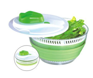 Collapsible Salad Spinner (LE58036) pictures & photos