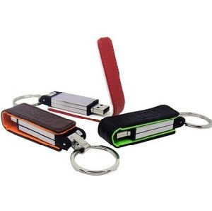 16GB Logo Printed Leather USB Flash Drive for Promotional Gift (TF-0254) pictures & photos