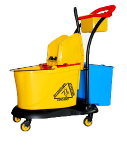Double Buckets Mop Trolley (With Downpress Wringer)