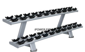 Two Tier Dumbbell Rack, Dumbbell Rack, Double Tiers Dumbbell Rack