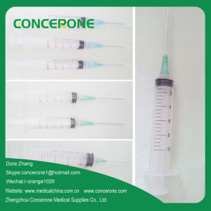 Disposable Medical Sterile Syringe with Needle (5ML) pictures & photos