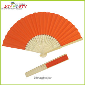 Salmon Paper Hand Fan for Halloween