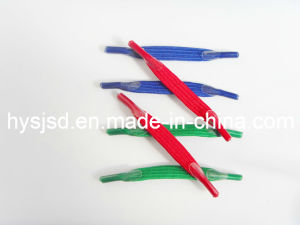 Best Selling Elastic Short Shoelace with Plastic Tip pictures & photos
