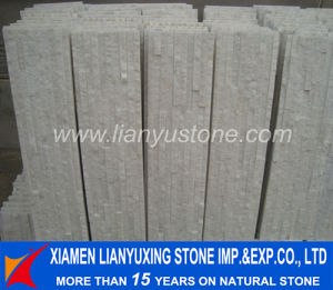 White Stacked Quartz Ledgestone for Wall