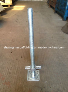Electric Galvanise Adjustable Solid Screw Jack Base for Construction Scaffold pictures & photos