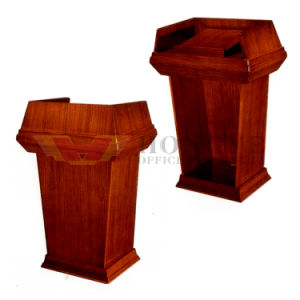 School Office Furniture Wooden Lecture Table Speech Podium pictures & photos