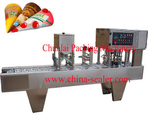 Ice Cream Cone Filling and Sealing Machine pictures & photos