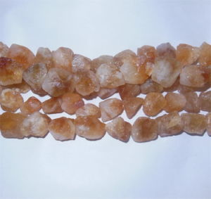 Semi Precious Stone Natural Crystal Citrine Rough Nugget Bead pictures & photos