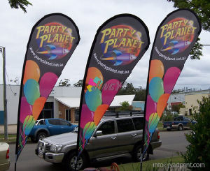 Hot Selling Cheap Promotion Beach Teardroop Shape Flag With Custom Flags pictures & photos