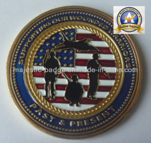 Customized Coin with USA Flag (MJ-Coin-012) pictures & photos