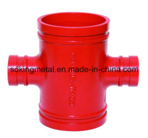 Ductile Iron 300psi NPT Threaded Grooved Reducing Cross pictures & photos